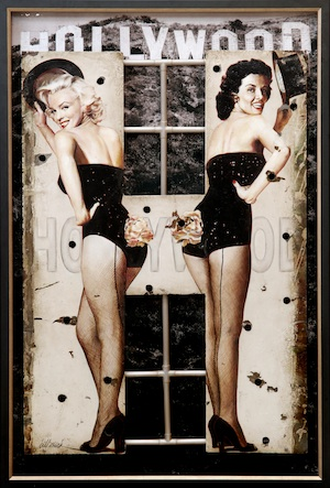 Authentic Piece Of The Original 1923 HOLLYWOOD Sign Reborn As A Five Foot H Work Of Art Depicting Marilyn Monroe and Jane Russell From Gentlemen Prefer Blondes  Is Up For Auction By Profiles In History