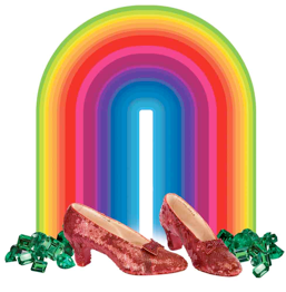 Solange rainbow ruby slippers THE RUBY SLIPPERS FROM THE WIZARD OF OZ ARE COMING TO SOLANGE