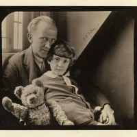 A A Milne Oversize Photograph Signed with son Christopher Robin and Winnie the Pooh 200x200 Products Page