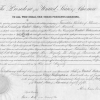 Abraham Lincoln Document Signed as President 200x200 Products Page