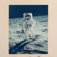 Apollo 11 NASA Photograph Signed Neil Armstrong Michael Collins Buzz Aldrin 200x200 Products Page