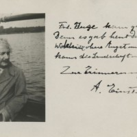 Einstein Photograph With Unpublished Poem Signed 200x200 Products Page