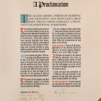 Harry S Truman Historic Proclamation Signed President w Handwritten Inscription 200x200 Products Page