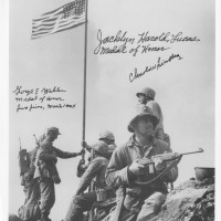 Iwo Jima Photograph of Mt Suribachi flag raising Signed Medal of Honor Heroes 200x200 Products Page