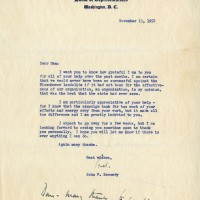John F Kennedy Typed Letter Signed with Handwritten Postscript 1952 200x200 Products Page
