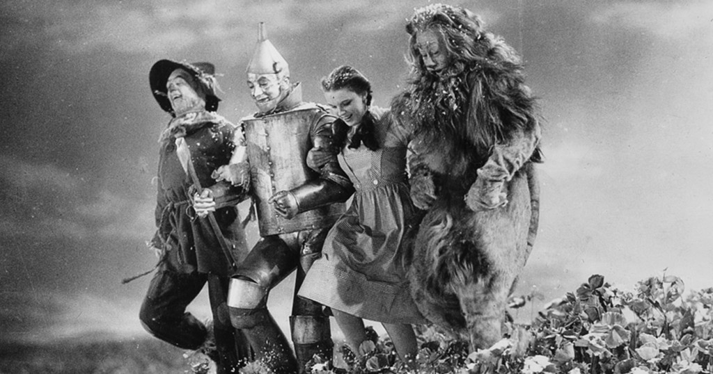 Wizard of Oz, Dorothy, the Lion, the Scarecrow, and Tin Man