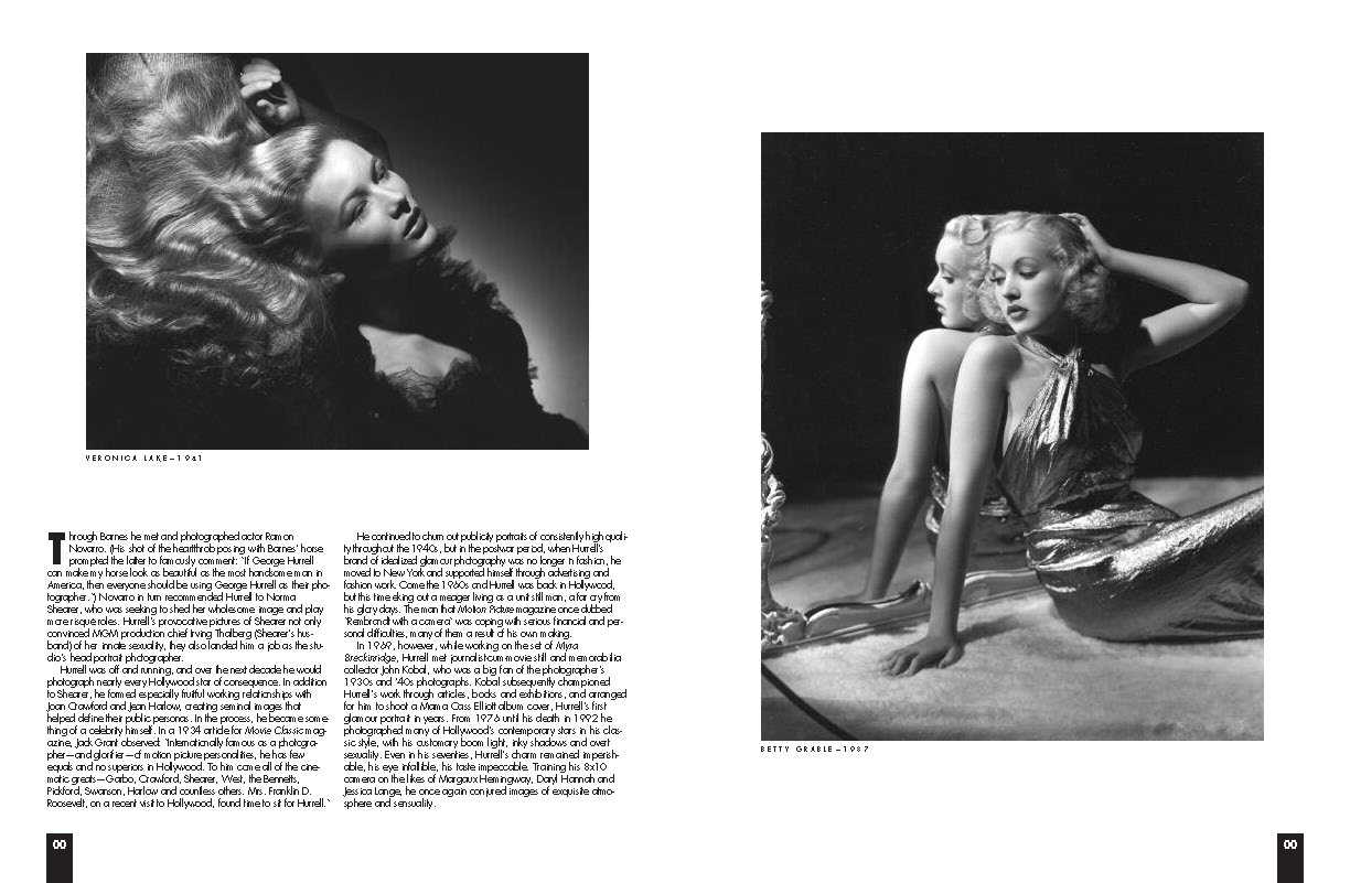 BW Hurrell article snip it with 2 black and white photos of famous actresses