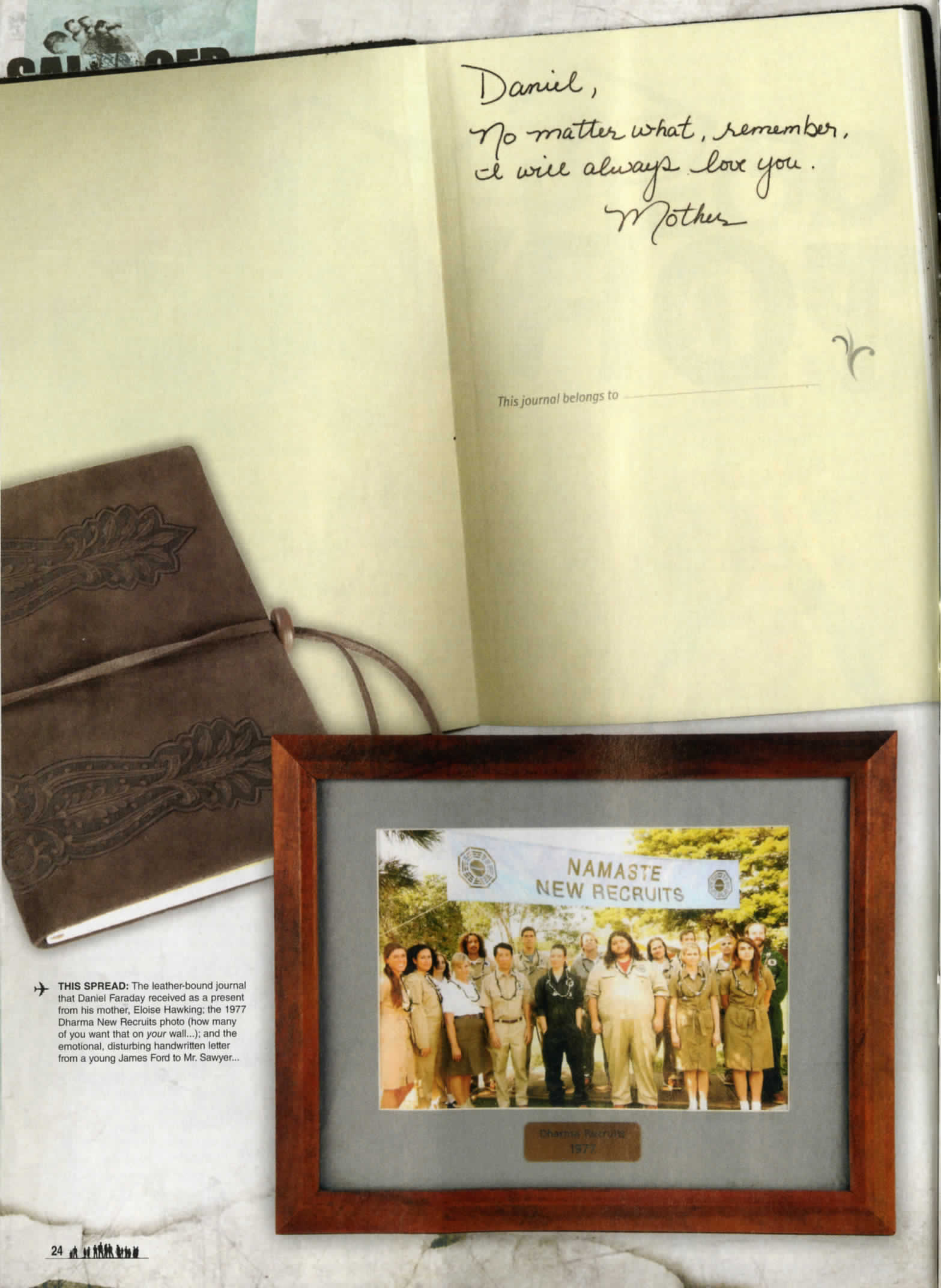 lost the official magazine, with a picture of a photograph of the dharma recruits