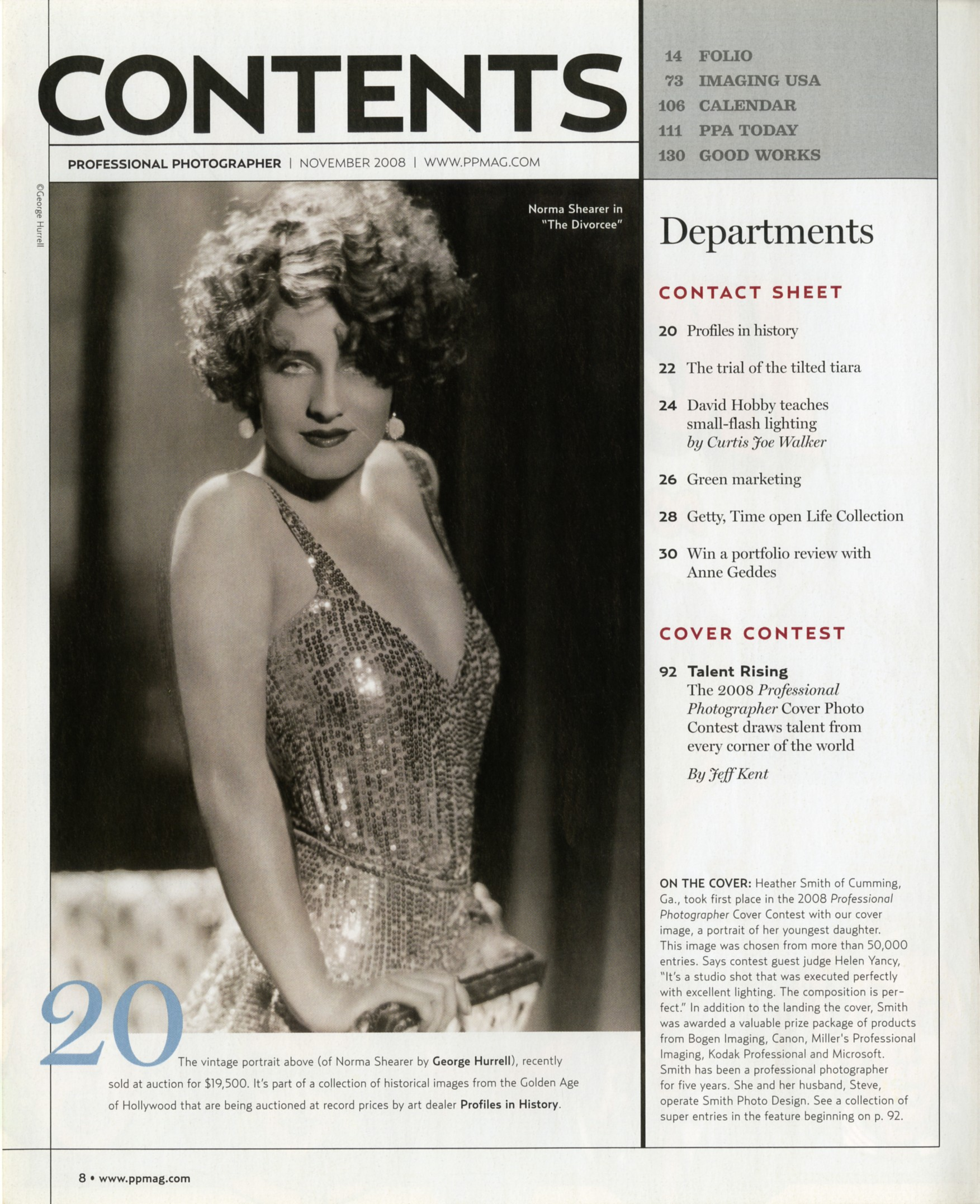 magazine article with old roaring twenties flapper in black and white