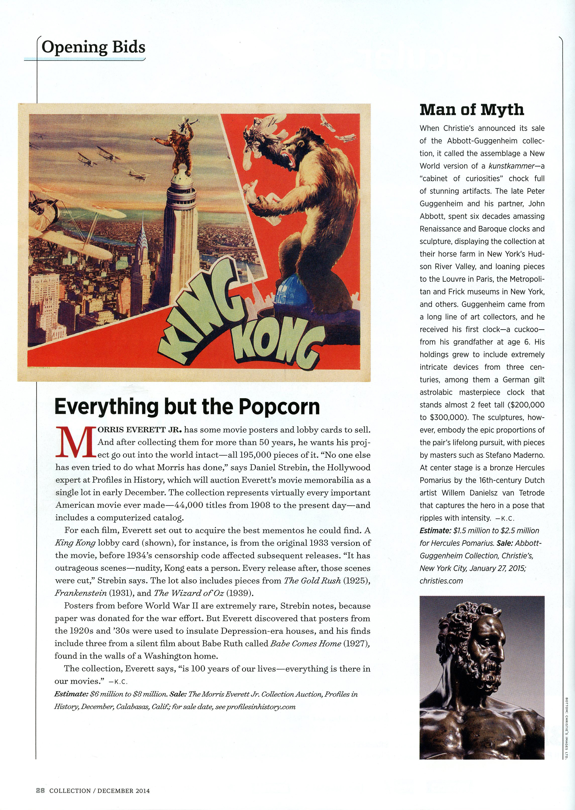magazine article, everything but the popcorn, king kong 59 years later