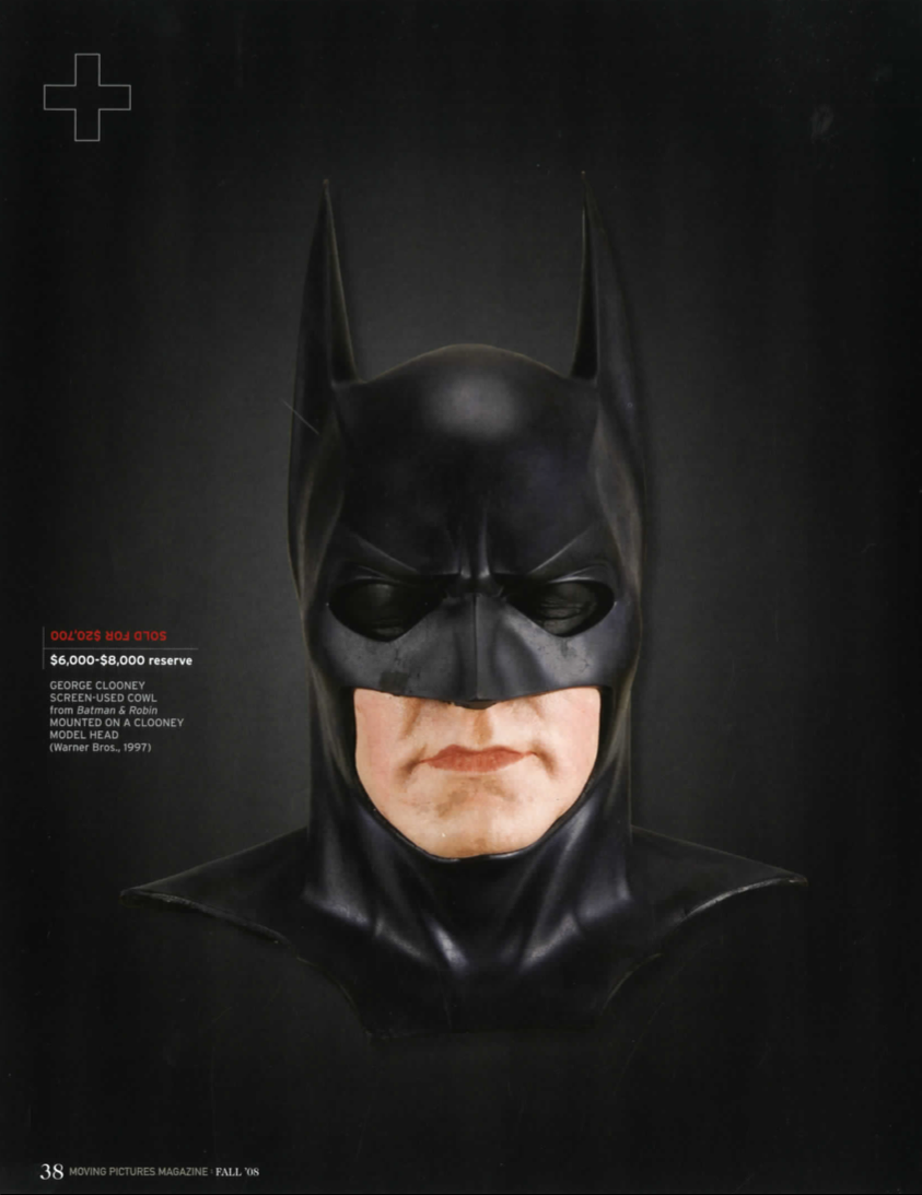 magazine article, george clooney as batman sketch in color