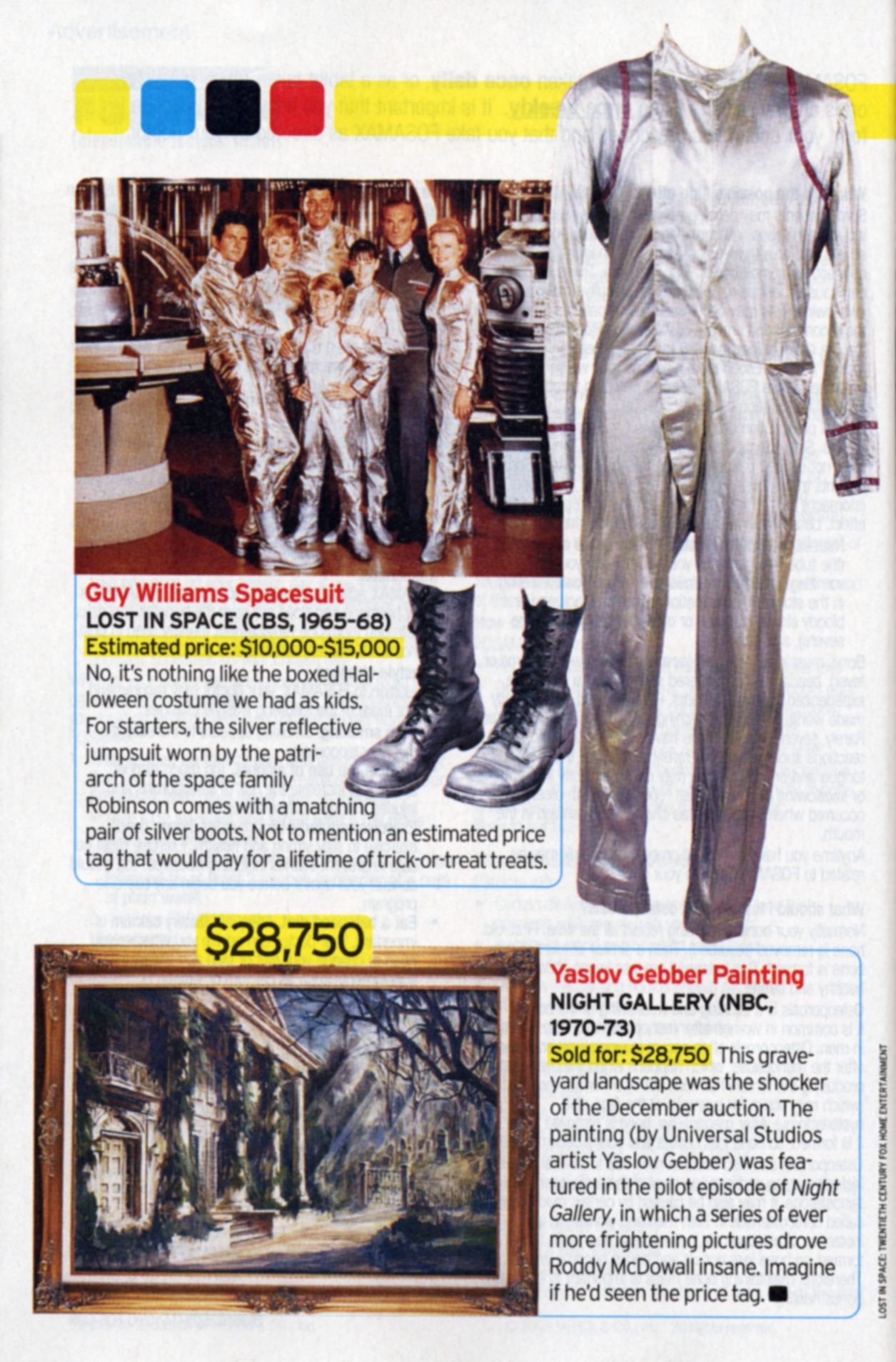 TV Guide Article about Guy Williams Spacesuit