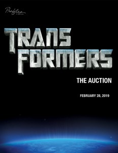 "transformer movie poster with ""the auction"" across it"